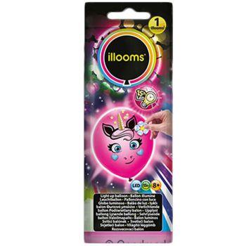 1 Ballon Illoomicons Leuchtendes Einhorn rosa