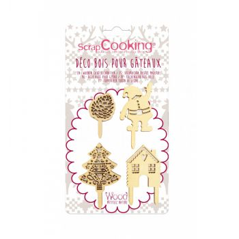 4 Weihnachts-Holz-Topper Scrapcooking