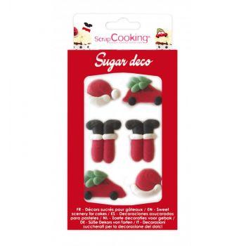 12 Weihnachtsmann-Zuckerdekorationen Scrapcooking
