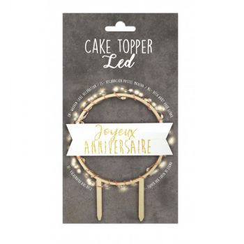 Helles Holz cake topper Happy Birthday Scrapcooking