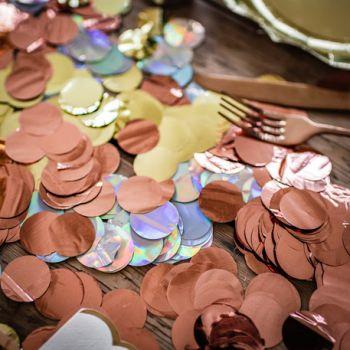 Metallisierte Konfetti gold 36gr