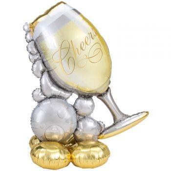 Riesiger Ballon zu posieren Airloonz Glas Champagner
