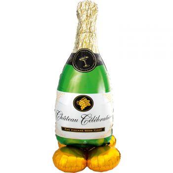 Riesiger Ballon zu posieren Airloonz Flasche Champagner