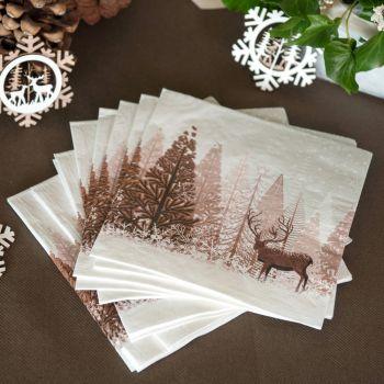 20 Handtücher Natürliche Winterwald