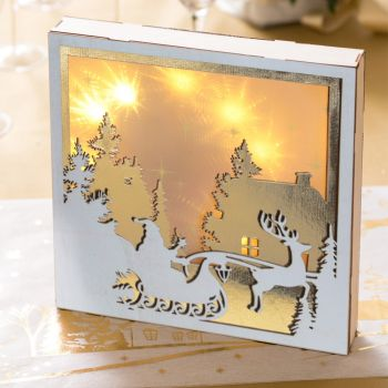 Lichttafel Weihnachten weiß