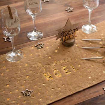 Fell Tischpfad Frohe Weihnachten und Gold