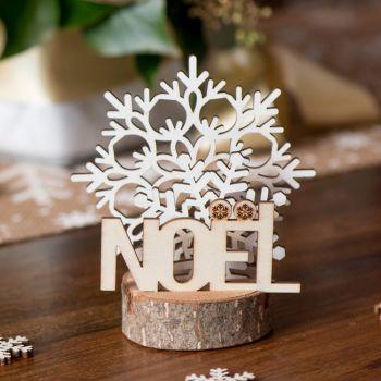 Dekor zum Legen Weihnachten weiße Flocken