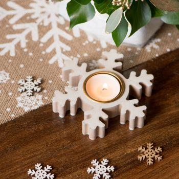 Kerzentür weiße Flocken