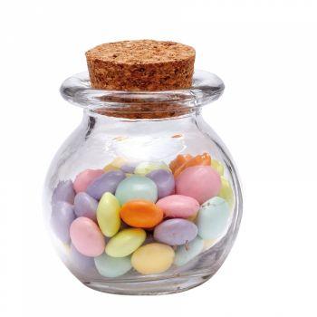 10 Mini Glas runder Topf