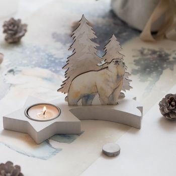 Tür Kerze Eisbären