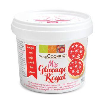 Rotes Scrapcooking-Pulver mit königlicher Glasur