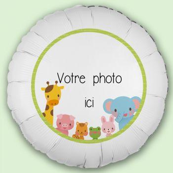 Personalisierte Ballon-Dekor Dschungel Baby