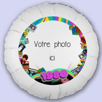 Personalisierte Luftballon Dekoration Jahr 80