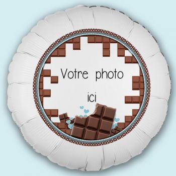 Personalisierte Luftballon Dekoration Schokolade