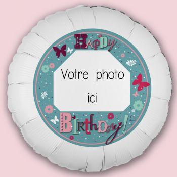 Personalisierte Ballon Dekoration Happy Birthday Garten