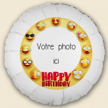 Personalisierte Ballon Smiley Dekor