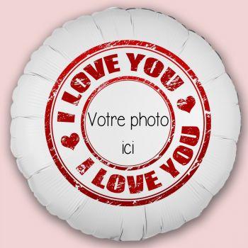 Personalisierte Luftballon Dekor Stempel Love