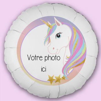 Personalisierte Luftballon Dekoration Einhorn