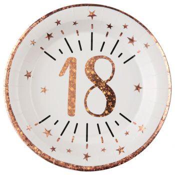 10 Teller Splitter gold rosa 18 Jahre