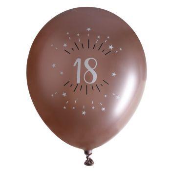 10 luftballon Splitter gold rosa 18 Jahre