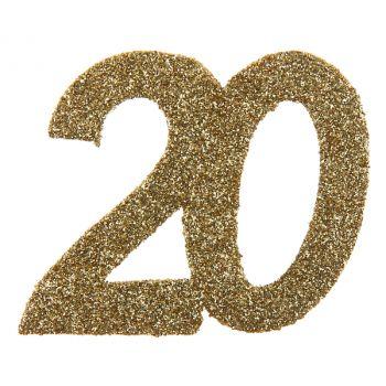 6 Riesiger Konfetti gold Glitzer 20 Jahre