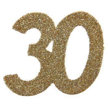 6 Riesen-Konfetti Gold Glitzer 30 Jahre