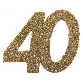 6 Riesiger Konfetti Gold glitzerte 40 Jahre