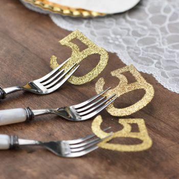 6 Riesen-Konfetti Gold Glitzer 50 Jahre