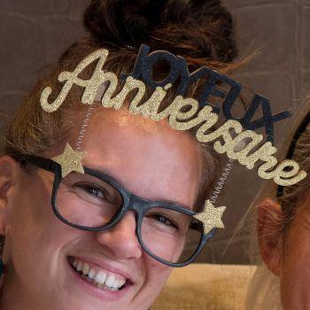 Glitzer Lünette gold Happy Birthday