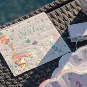 20 Servietten aus Papier Meerjungfrau
