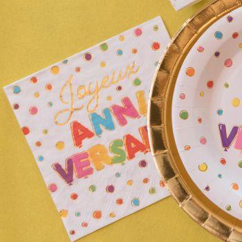 20 Servietten aus Papier Color gold