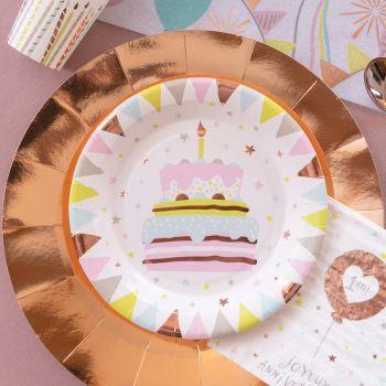 10 Pappteller Happy Birthday 1 Jahr