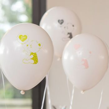 8 Geburtstagsbälle Happy Birthday 1 Jahr