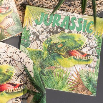 20 Papiertücher Dinosaurier