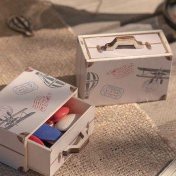 2 Mini-Boxen Holzkoffer Gute Reise