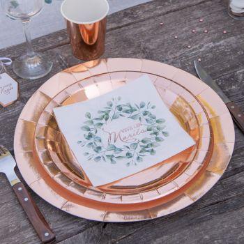 20 Bukolische Handtücher Vive les Mariés