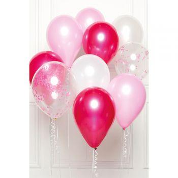 Bündelballons 10 Luftballons rosatöne