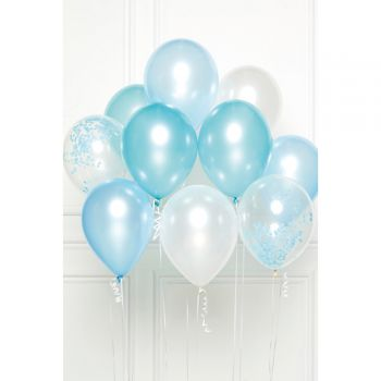 Bündelballons 10 Luftballons Blautöne