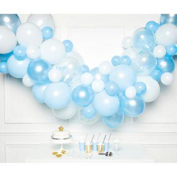 70 Bogen-Ballons blau