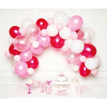 70 Bogen-Ballons rosa