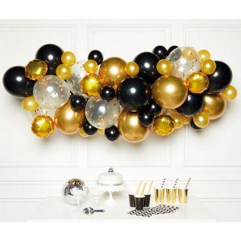 Bogen ballon kit mit 66 luftballons black und gold