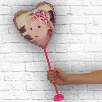 Luftballon individuelle Rahmen rosa paillette