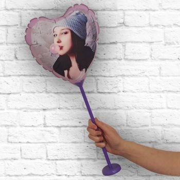 luftballon für das Herz rahmen violett