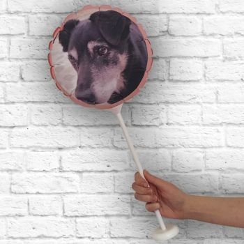 personalisierte runder Ballon Rahmen Korallen Ø 28 cm