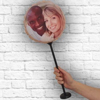 personalisierte runde luftballon Rahmen Kraft Ø 28 cm