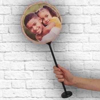 personalisierte Runde Ballon Rahmen Angeln Ø 28 cm