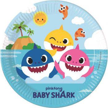 8 Teller kompostierbar Baby Shark