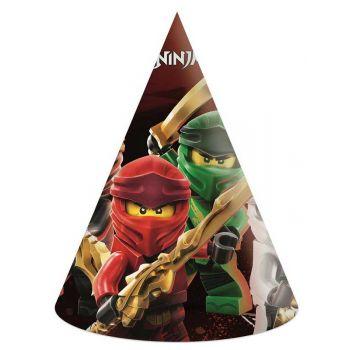 6 Partyhut kompostierbar Lego Ninjago