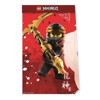 4 Kompostierbare Party-beutel Lego Ninjago