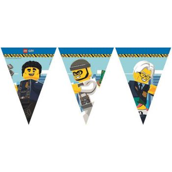 1 Kompostierbare Wimpel girland Lego City